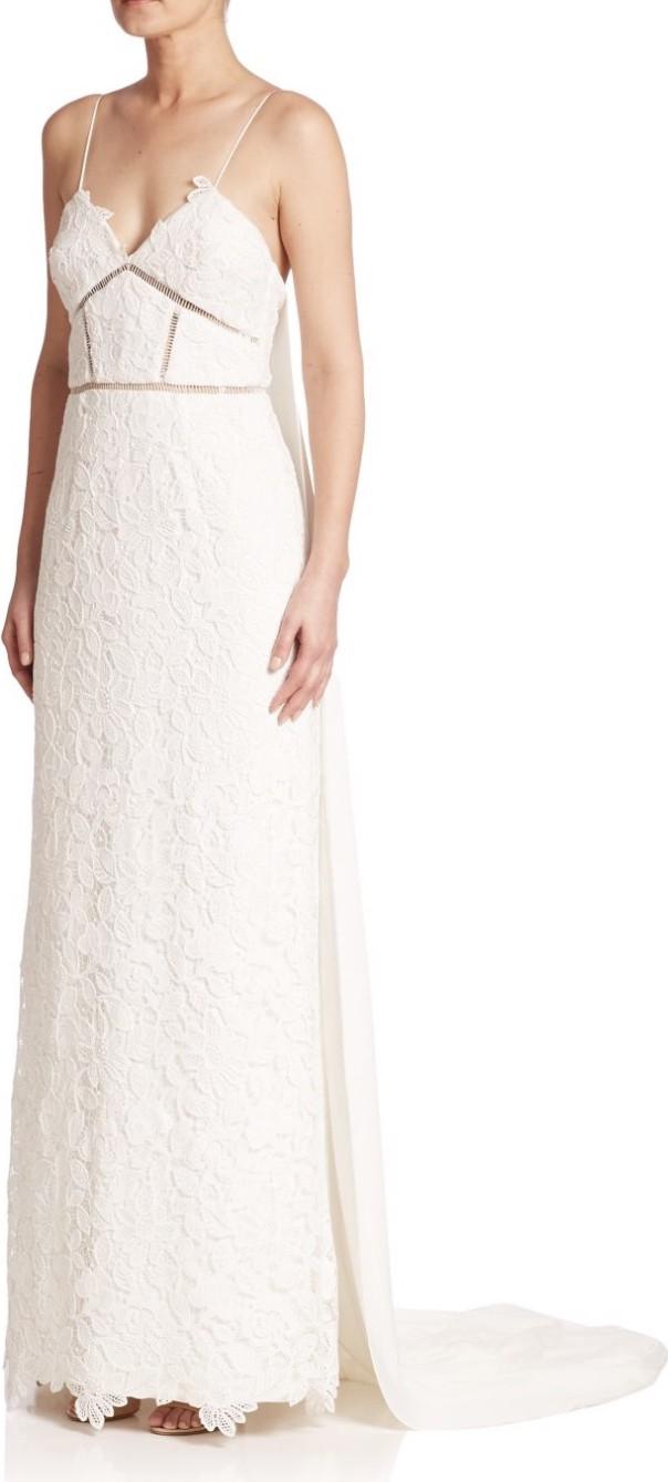 a409484942f6 Self Portrait Angelica Lace Gown New Wedding Dress on Sale 74% Off -  Stillwhite Australia