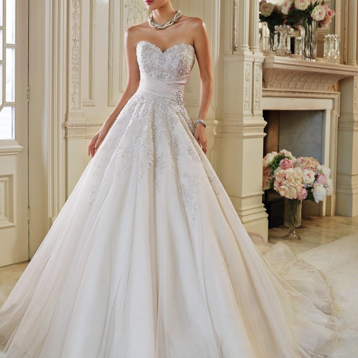 Sophia Tolli Ida Sample Wedding Dress On Sale 50% Off