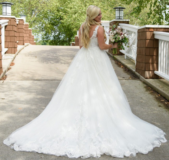 Martina Liana Romantic A-Line Couture Dress with Stunning Detail
