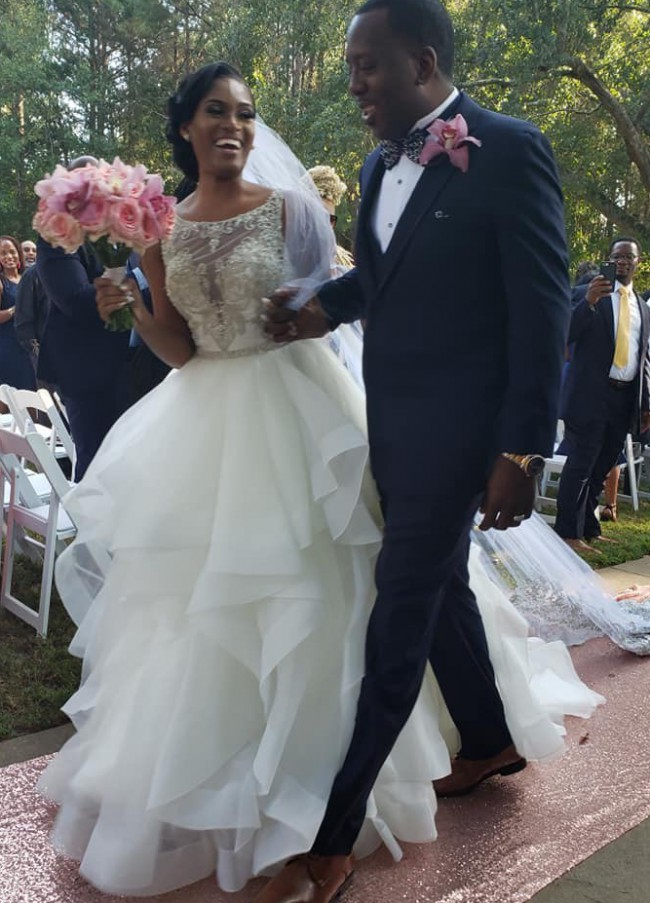 Allure Bridals, 2 dress looks - Mermaid Dress & Detachable Overski