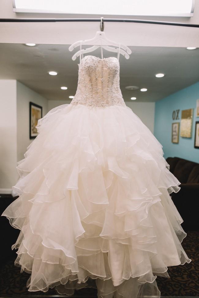 2b7b69ea6a7c3 Oleg Cassini CWG568 Used Wedding Dress on Sale 41% Off - Stillwhite