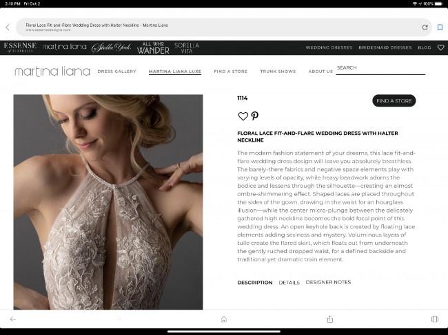 Martina Liana Model # 1114 petite