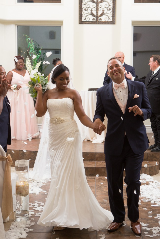 David's Bridal, Crinkle Chiffon Wedding Dress With Draping