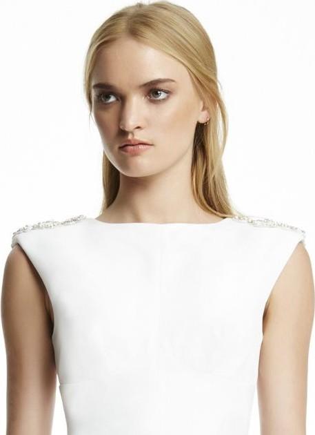 Rachel Gilbert Eliana embellished satin-crepe gown size 1