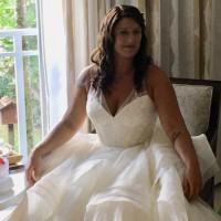 389f997e3aa Truly Zac Posen Horsehair tiger skirt wedding dress Used Wedding ...