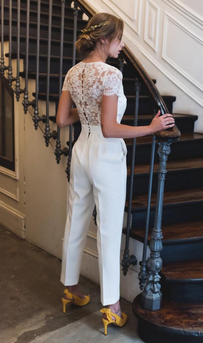 Harpe Paris La combinaison pantalon de la mariee