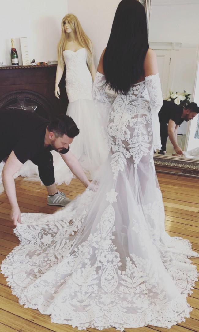 402acd62c26 Nektaria Michelle gown Second Hand Wedding Dress on Sale ...