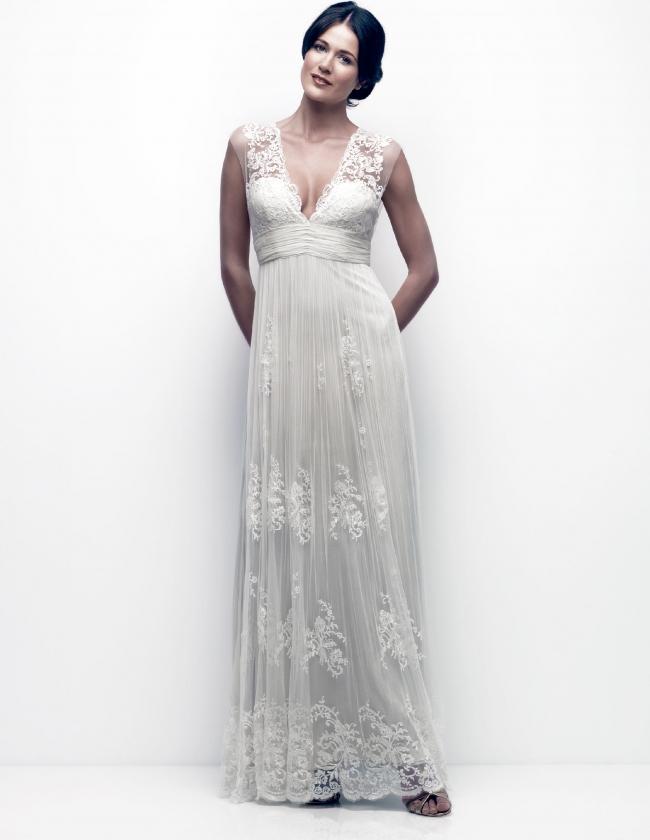 0afaffcafeef Catherine Deane Sample Wedding Dress on Sale 67% Off - Stillwhite