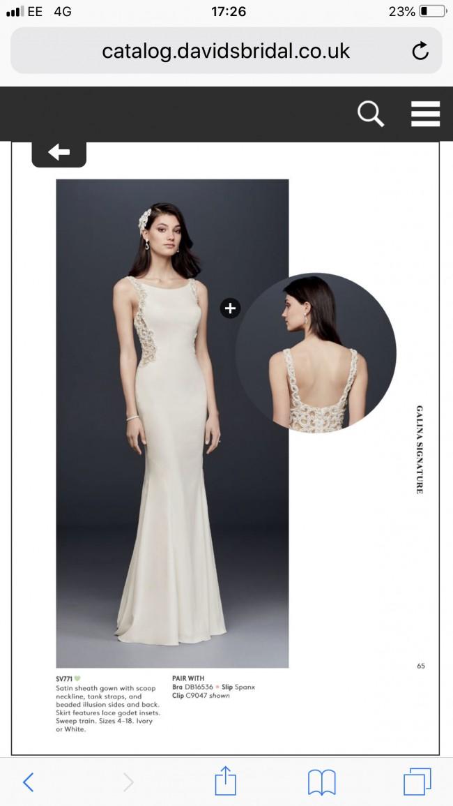 f3c5c1103816 David's Bridal SV771 New Wedding Dress on Sale 29% Off - Stillwhite