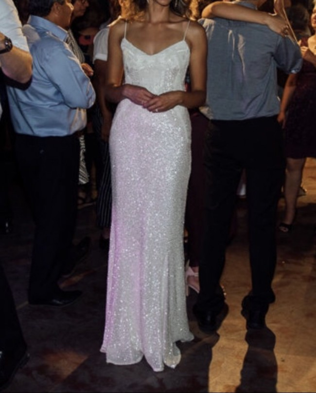 Karen Willis Holmes, Addison Gown and Genevieve Skirt Drape