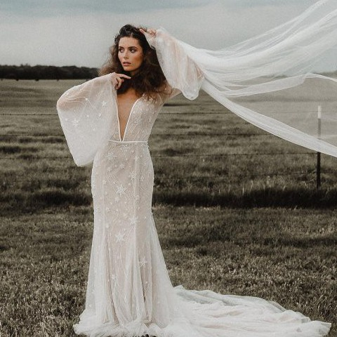 Lillian West 66057 - Shooting Star Beaded Dress