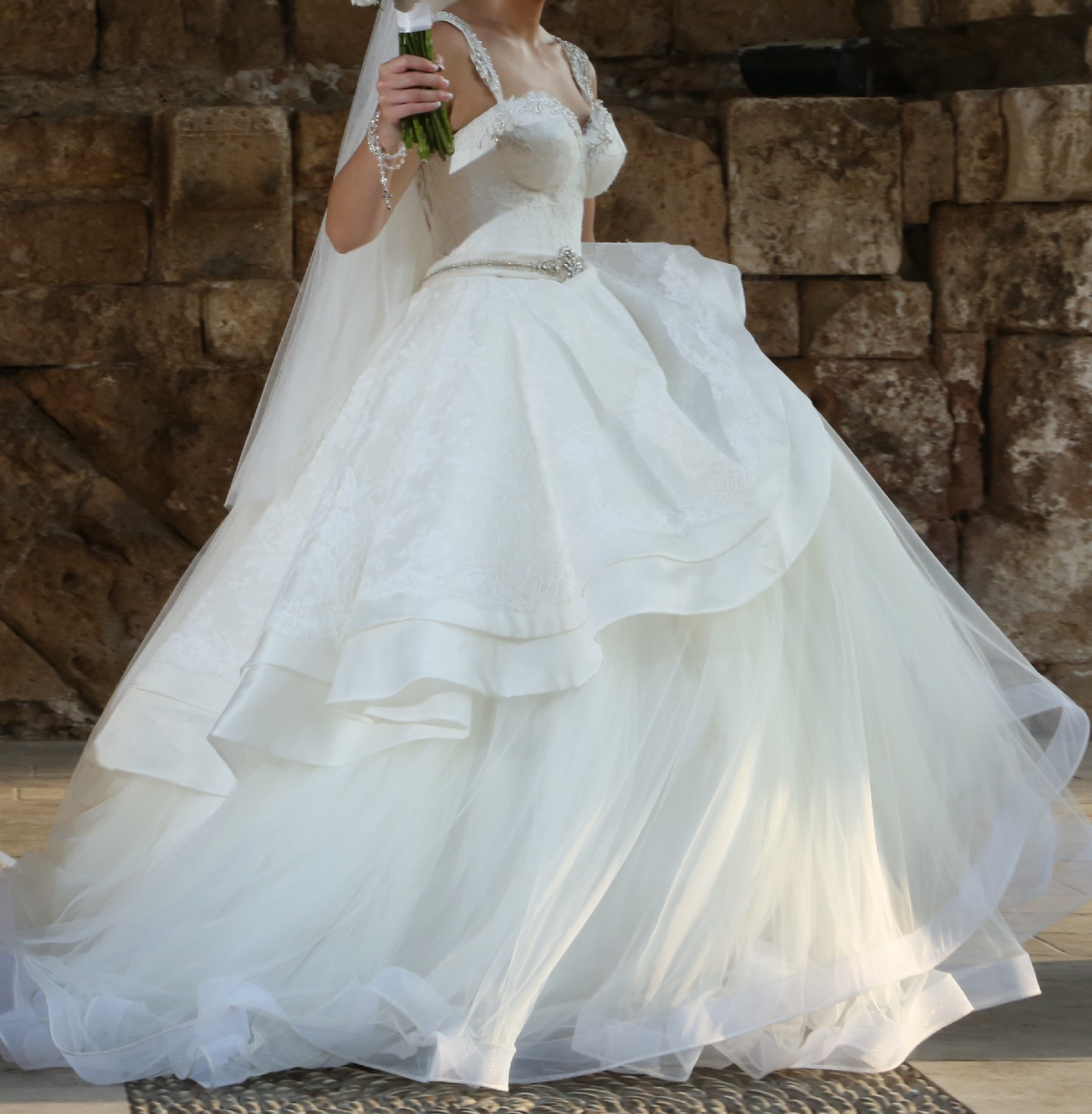 Second Hand Wedding Gown: Azzaria Bridal Couture Custom Made Second Hand Wedding