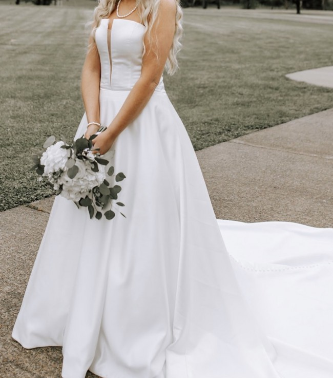 Morilee 5807 Shelby Strapeless Satin Bridal Dress