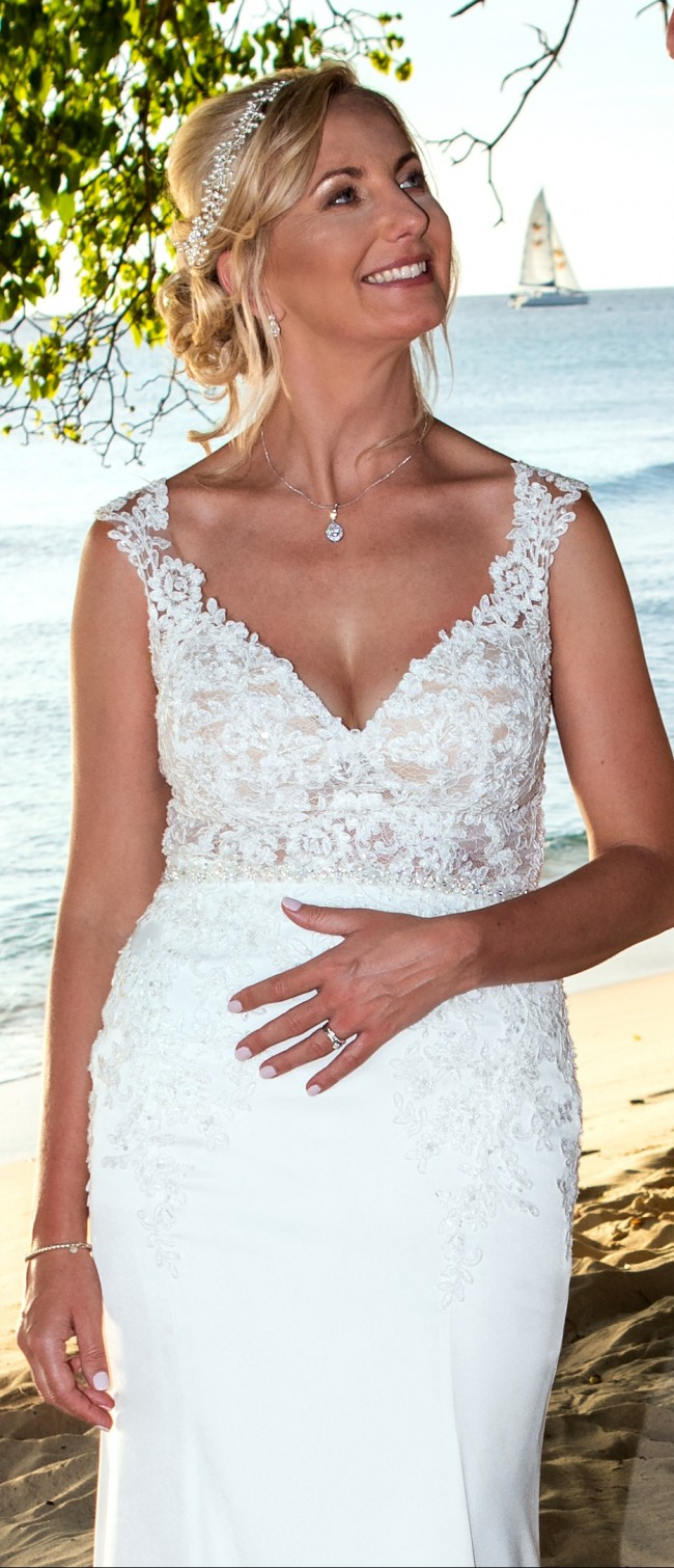 Stella York, Stunning French Lace and crepe Stella York 6476