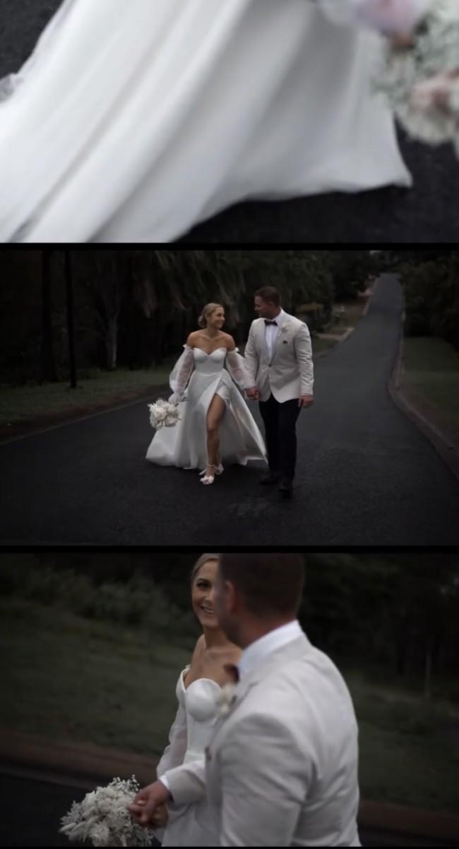 Rachel Rose Custom, modeled off the 'snow' gown