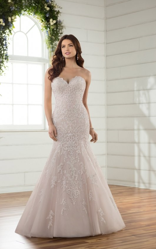 Essense of Australia Strapless Mermaid Gown *Veil Included*