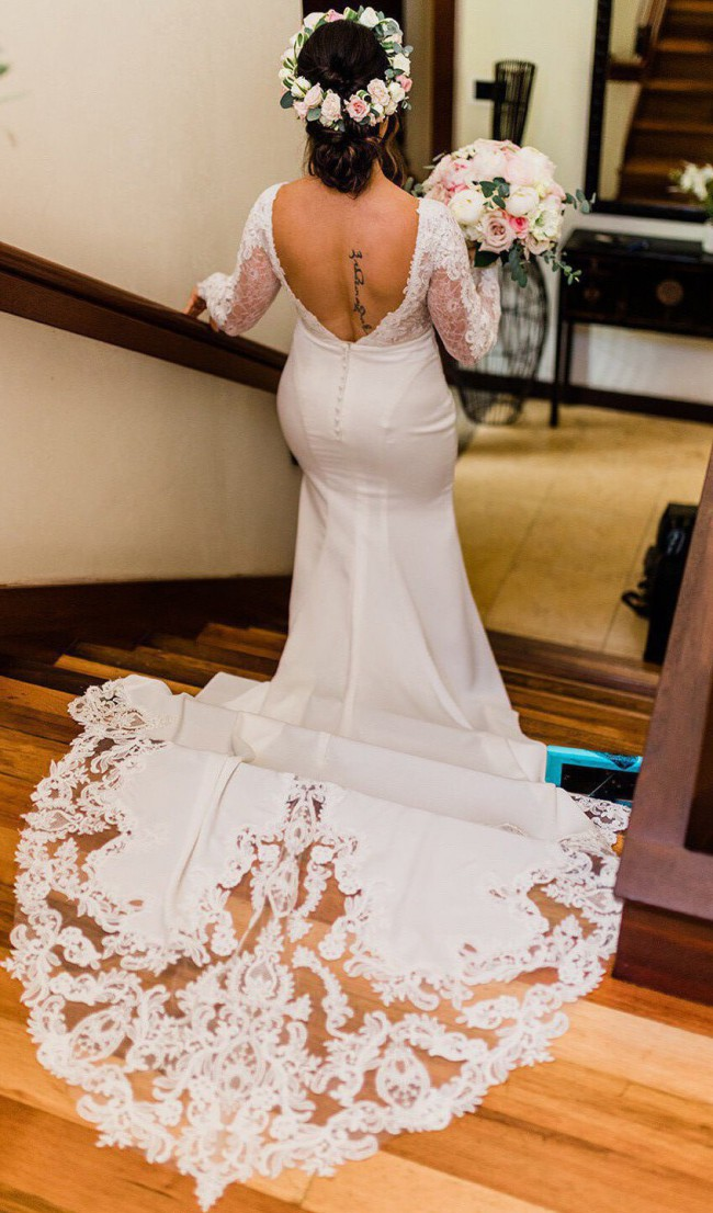 Stella York 6817 Ivory Gown with Sheer Moscato Bodice