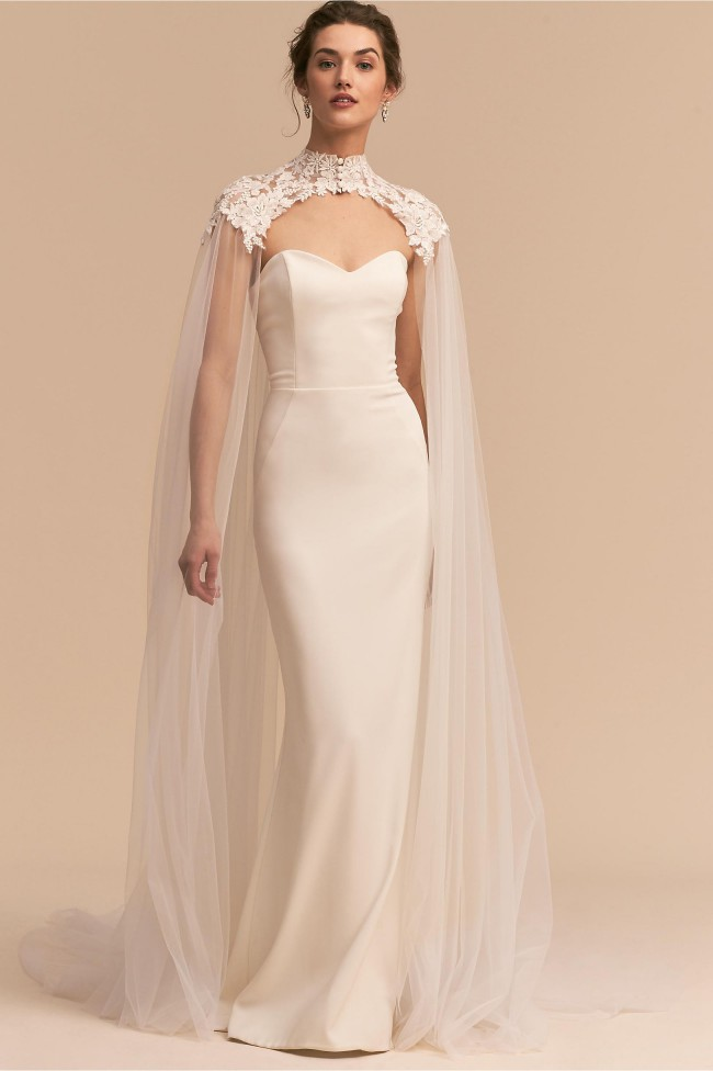 BHLDN Vincent Cape One Size New