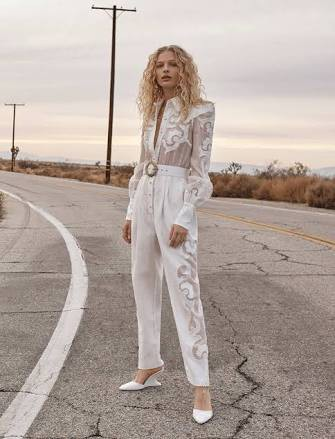 Zimmermann Radiate appliqué jumpsuit size 0