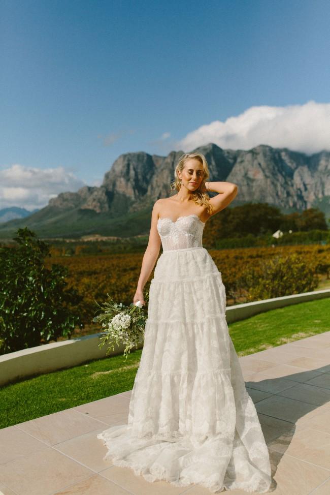 Kobus Dippenaar, 2 in 1 Wedding dress, Mini dress and overskirt