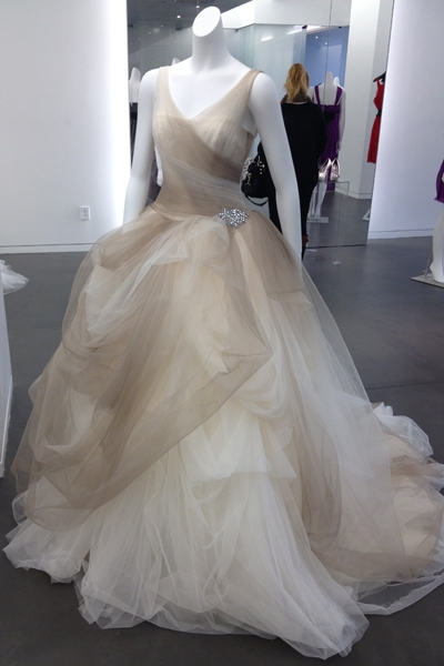 6d92f6e93999b Vera Wang Stone Ombre Tulle Ball Gown with Pick Up Skirt Sty New ...