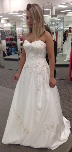 David's Bridal, D10 WG3627 Ivory
