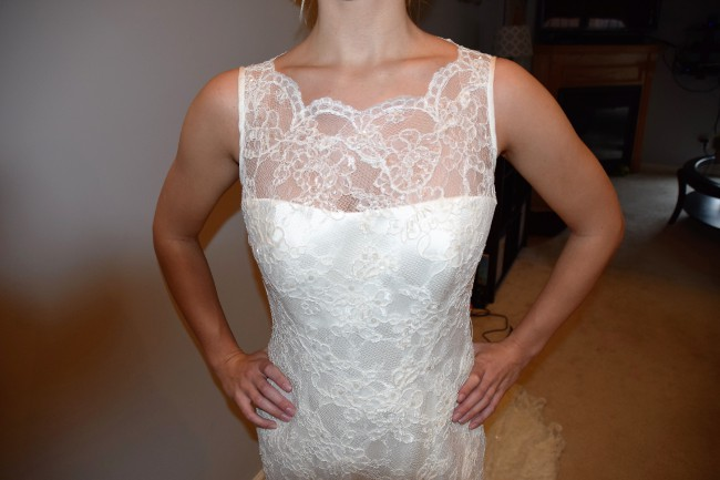 a1e5a7fecd Augusta Jones Ali New Wedding Dress on Sale 75% Off - Stillwhite ...
