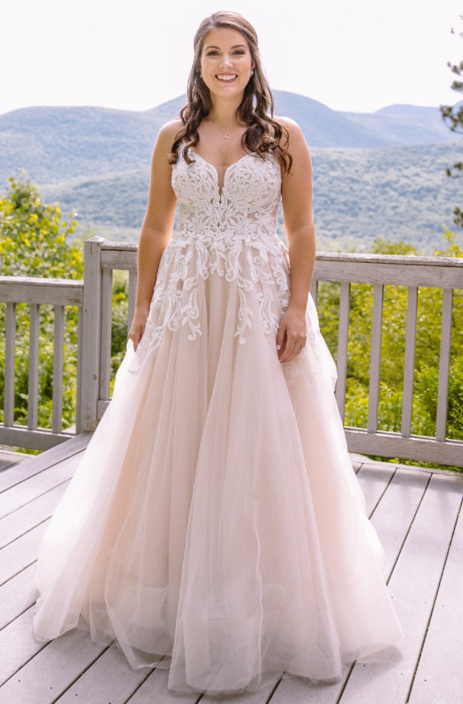 Martina Liana 984 A-line wedding dress with sparkle