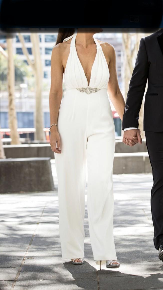 Angela Manno Bridal Jumpsuit Modern Custom Made