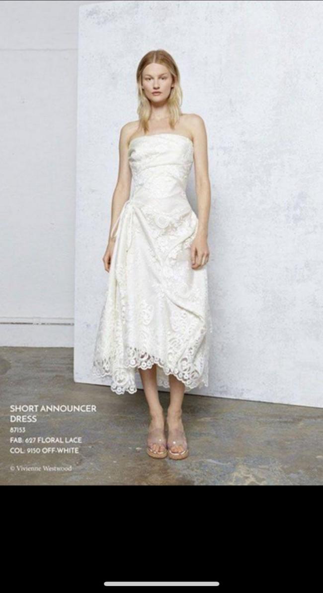 Viviene Westwood Wedding Dresses.Vivienne Westwood Short Announcer Wedding Dress On Sale 80 Off