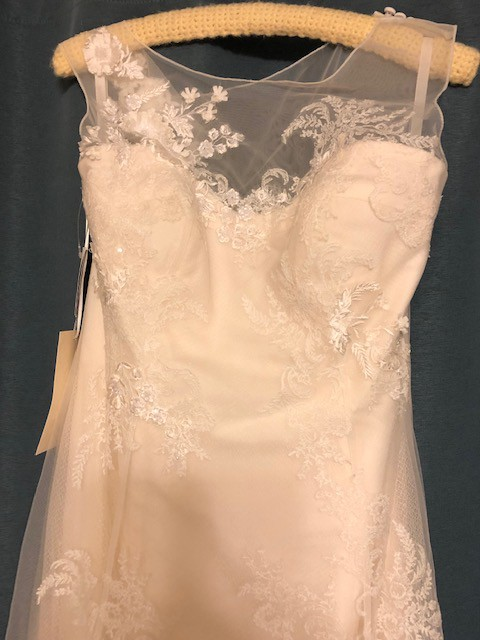Melissa Sweet, Melissa Sweet Tank Tulle Wedding Dress with Beads