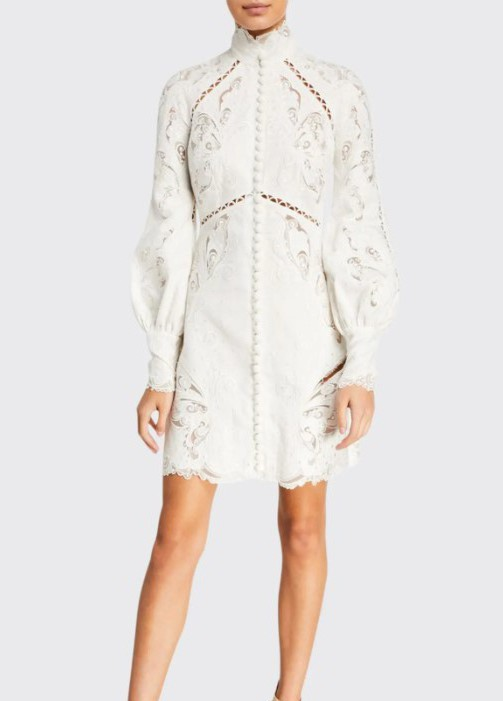 Zimmermann Super Eight Embroidered Mini Dress