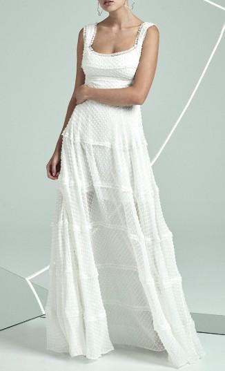 Rachel Gilbert Ollie Spotted Silk Gown Rachel Gilbert