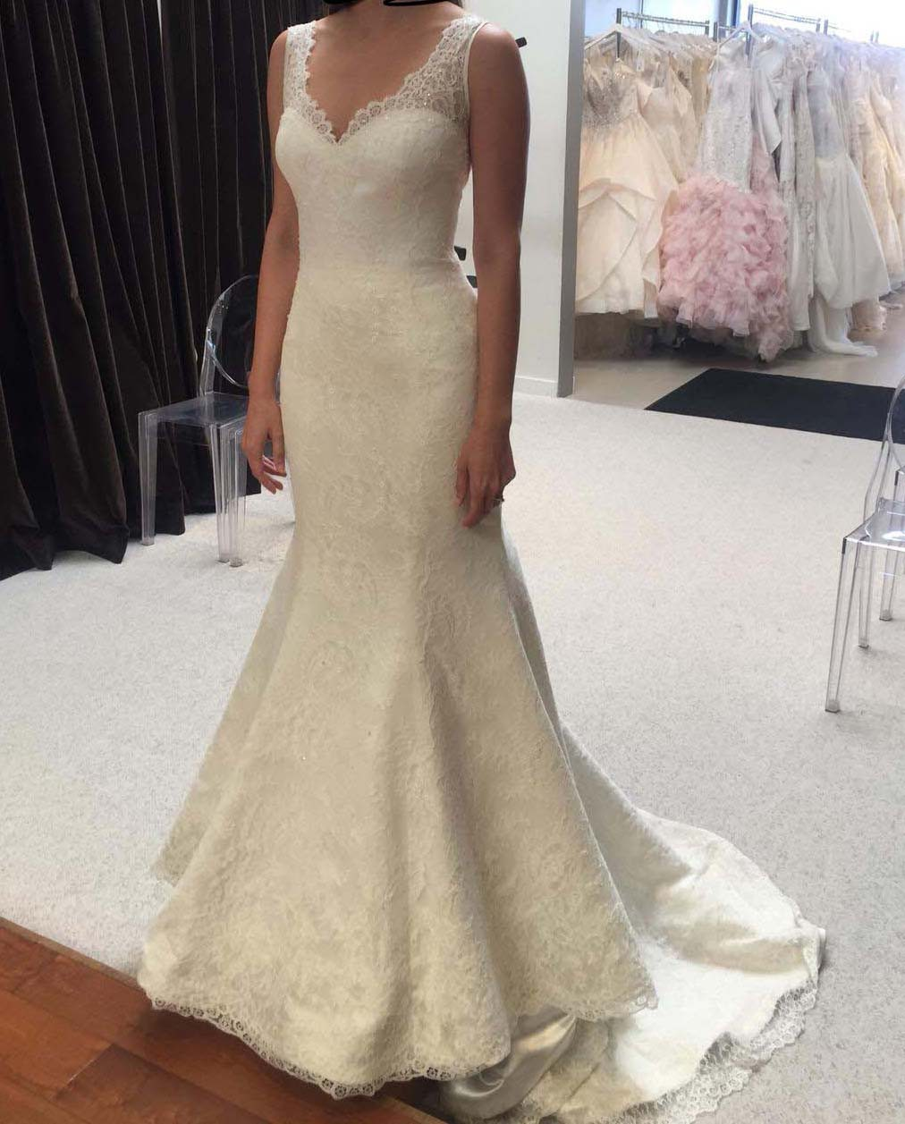 Augusta Jones Custom Macy Chantilly Ivory New Wedding