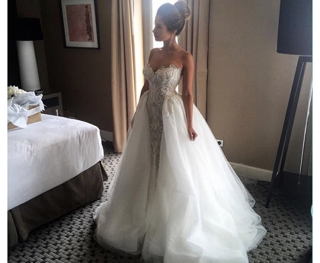 Steven Khalil Steven Khalil Couture Used Wedding Dress On Sale 34