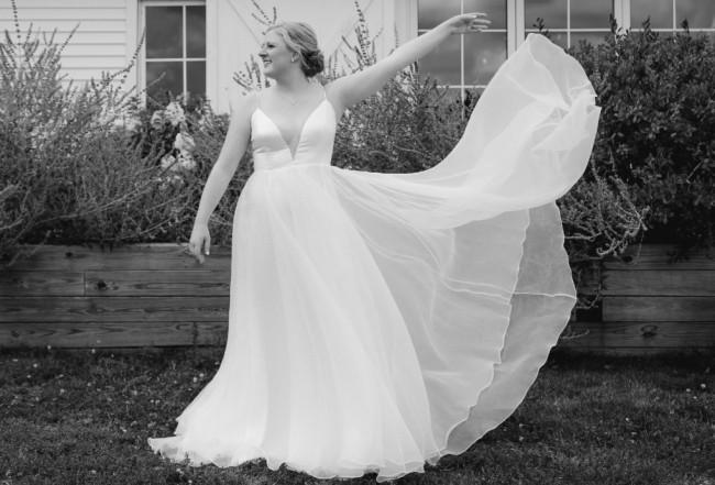Sarah Seven RSVP gown