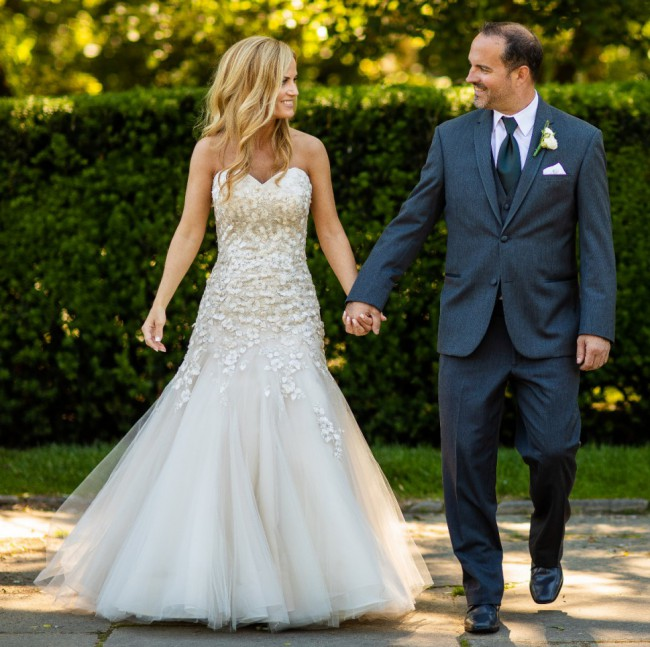 Liancarlo Ivory Tulle with Swarovski Crystals 5839