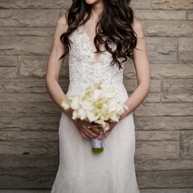 Monique Lhuillier BL18102 in Silk White/Blush