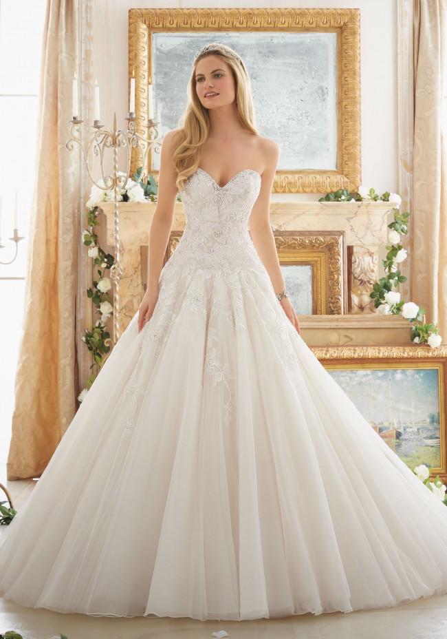 03396f4ce22b Madeline Gardner Mori Lee 2877 New Wedding Dress on Sale 85% Off ...