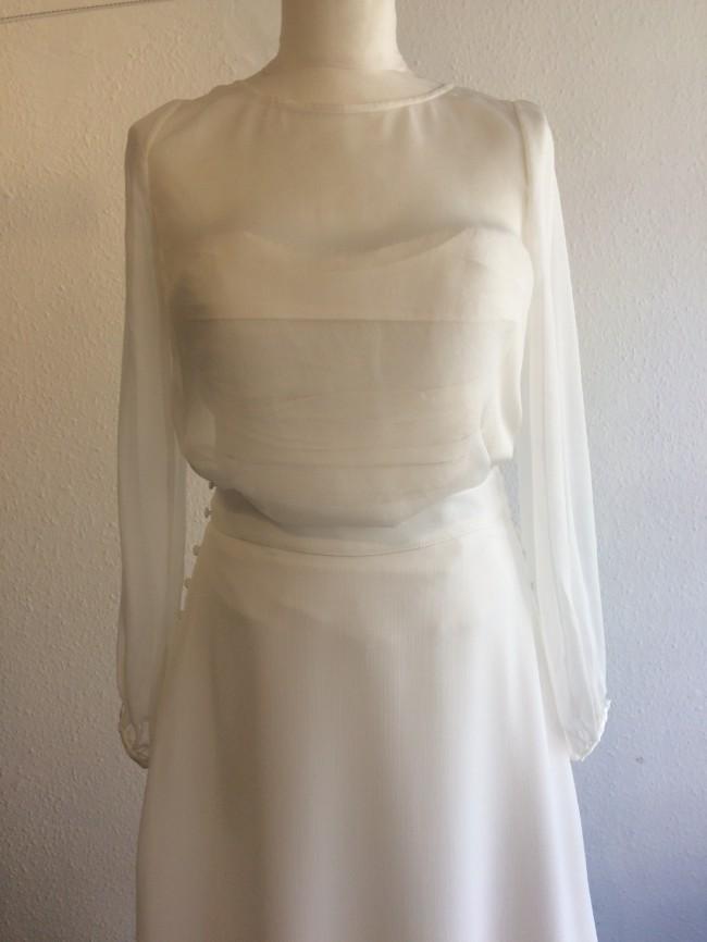 Custom Gown Bespoke ivory bodice
