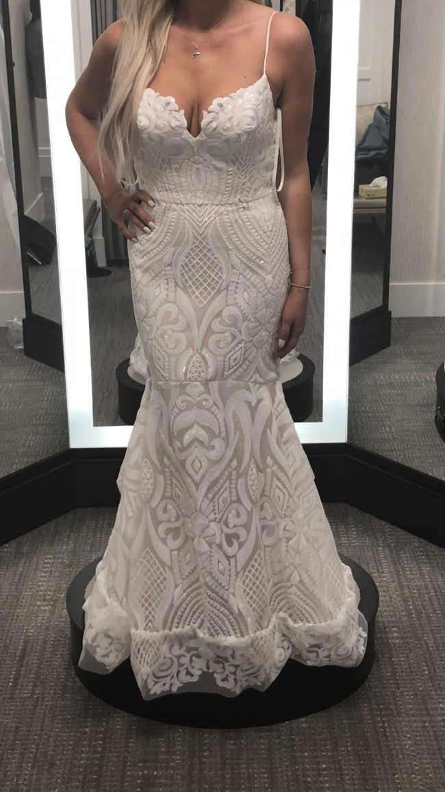 Hayley Paige Ivory Marrakesh beaded fit to flare bridal gown