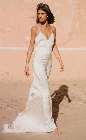 Silk Slip Gown Used Wedding Dress