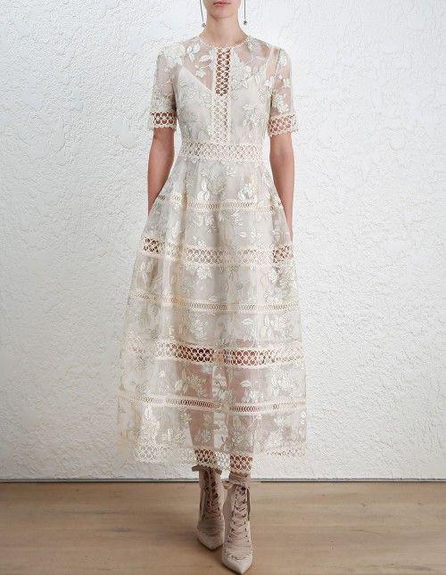 Zimmermann Stranded embroidery dress size 3
