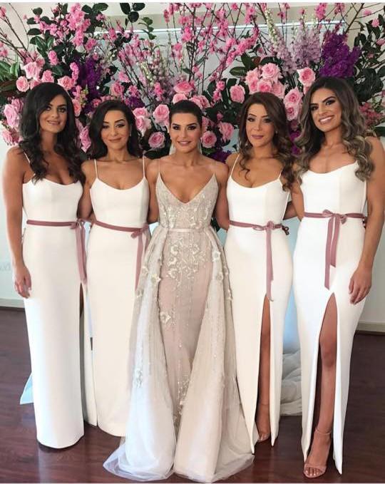 Yulia Mcauley Bridesmaid dresses with flower girl dress