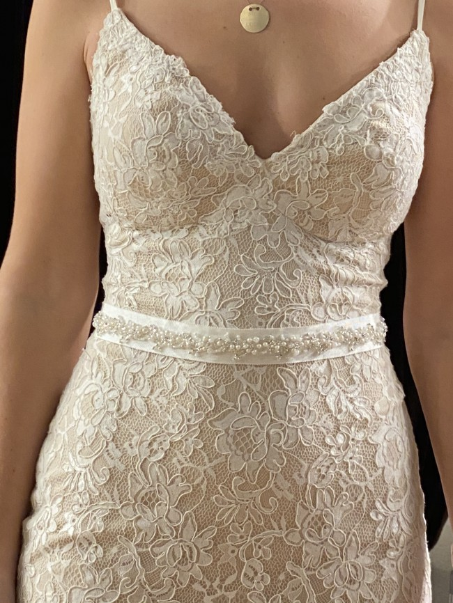 Essense of Australia Botanical Lace Wedding Gown