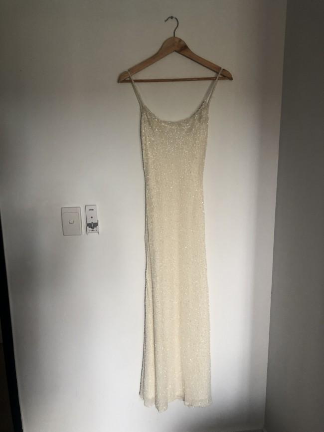 Custom Gown Fully beaded slip style dress
