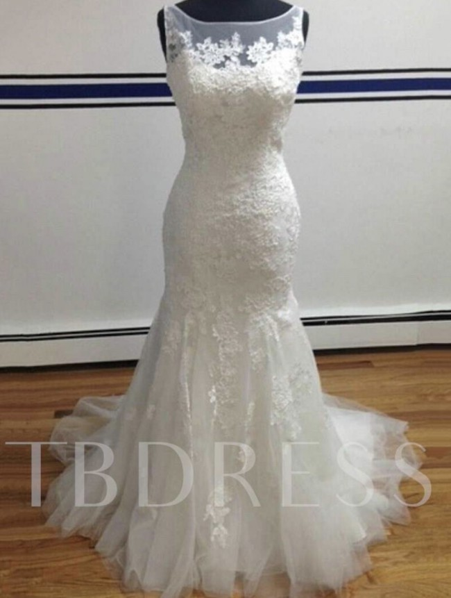 Tb Dress, Trumpet fit and flare Tulle with Lace