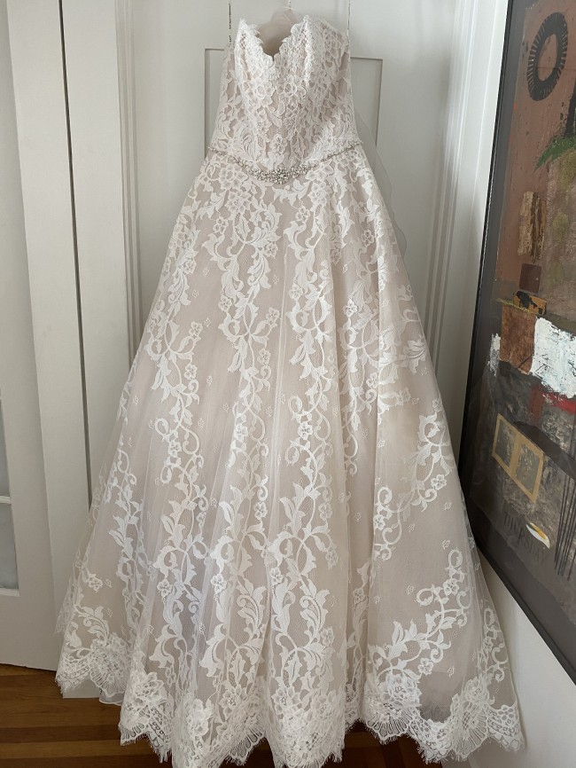 Maggie Sottero Strapless Sweetheart Lace Ball Gown
