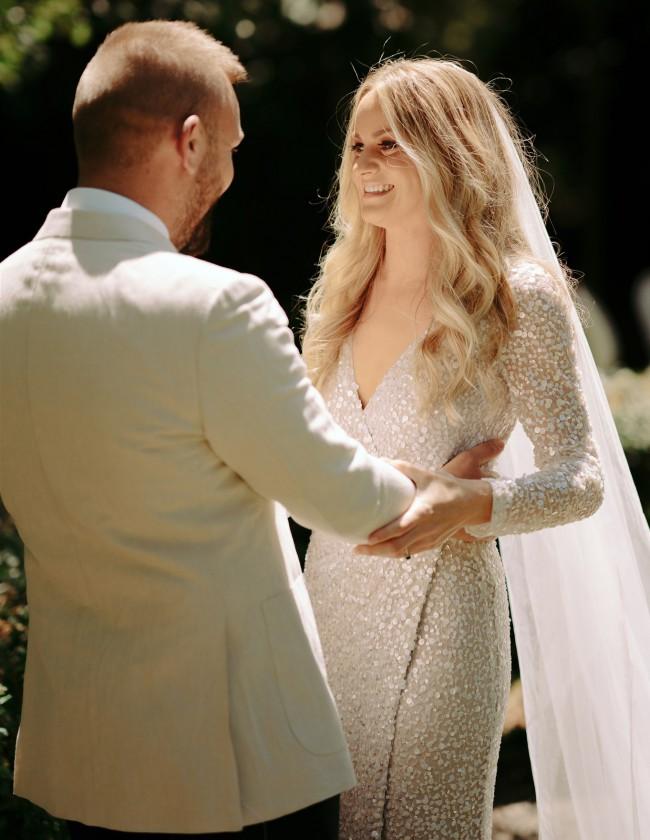 Rachel Gilbert Trixie Sequin Gown