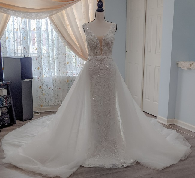 Giovanna Alessandro Jane Wedding gown with Crystal Skirt